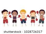 illustration of stickman kids... | Shutterstock .eps vector #1028726317