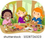 illustration of stickman kids... | Shutterstock .eps vector #1028726323