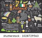 ireland sketch doodles. hand... | Shutterstock .eps vector #1028729563