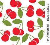 cherry pattern vector design | Shutterstock .eps vector #1028733673