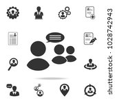 business meeting icon. set of...