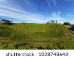 mt eden crater and view to... | Shutterstock . vector #1028748643