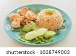 grilled seafood with cooked... | Shutterstock . vector #1028749003