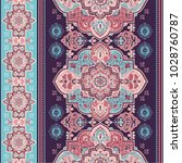 indian rug paisley ornament... | Shutterstock .eps vector #1028760787