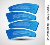 modern blue curve banners | Shutterstock .eps vector #102876563