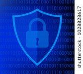 secure internet sign....   Shutterstock .eps vector #1028828617