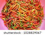 small red hot chili peppers | Shutterstock . vector #1028829067