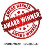 award winner stamp   Shutterstock . vector #102883037
