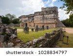 majestic ruins in chichen itza... | Shutterstock . vector #1028834797