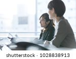businesswomen working in the... | Shutterstock . vector #1028838913