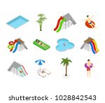 aqua park element set with... | Shutterstock .eps vector #1028842543