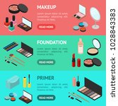 cosmetic products banner... | Shutterstock .eps vector #1028843383