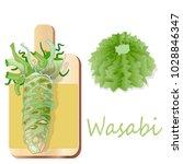 wasabi japanese horseradish... | Shutterstock .eps vector #1028846347
