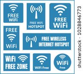 free wifi vector signs ... | Shutterstock .eps vector #1028846773
