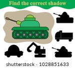 find the correct shadow of tank.... | Shutterstock .eps vector #1028851633