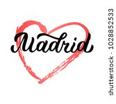 madrid   trendy brush hand...   Shutterstock .eps vector #1028852533