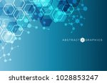 geometric abstract background... | Shutterstock .eps vector #1028853247