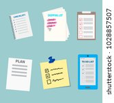 agenda list concept vector... | Shutterstock .eps vector #1028857507