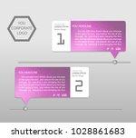 timeline infographics banner.... | Shutterstock .eps vector #1028861683