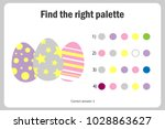 find the right palette to the... | Shutterstock .eps vector #1028863627