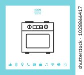 kitchen stove linear icon | Shutterstock .eps vector #1028866417