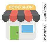 food shop  super market flat... | Shutterstock .eps vector #1028877907