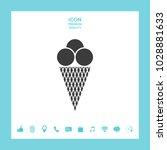 ice cream icon | Shutterstock .eps vector #1028881633