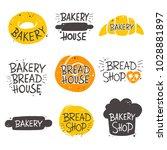 colorful bakery lettering set.... | Shutterstock .eps vector #1028881897