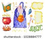 watercolor magic illustration...   Shutterstock . vector #1028884777