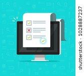online form survey on computer... | Shutterstock .eps vector #1028887237