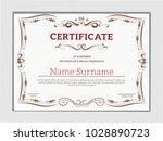 vintage golden classic... | Shutterstock .eps vector #1028890723