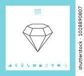 diamond sign. jewelry symbol.... | Shutterstock .eps vector #1028890807