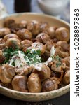 close up of fried champignon... | Shutterstock . vector #1028897863