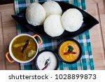 idli  sambar  tomato chutney ... | Shutterstock . vector #1028899873