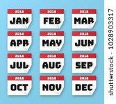 vector illustration of calendar ... | Shutterstock .eps vector #1028903317