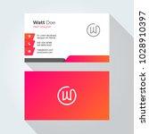 w letter modern minimal... | Shutterstock .eps vector #1028910397