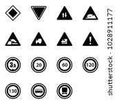 solid vector icon set   main... | Shutterstock .eps vector #1028911177