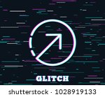 glitch effect. direction arrow... | Shutterstock .eps vector #1028919133