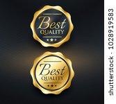 best quality golden label... | Shutterstock .eps vector #1028919583