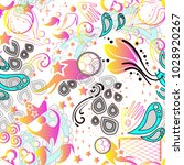 seamless russian pattern with... | Shutterstock .eps vector #1028920267