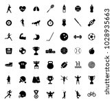 sport icons set | Shutterstock .eps vector #1028935663