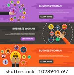 business woman flat icon... | Shutterstock .eps vector #1028944597