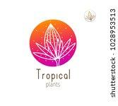 tropical plant logo. vector... | Shutterstock .eps vector #1028953513