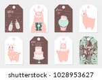 set of 8 cute ready to use gift ... | Shutterstock .eps vector #1028953627