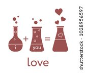you and me and our chemistry of ... | Shutterstock .eps vector #1028956597