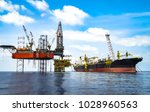 jack up drilling rig on... | Shutterstock . vector #1028960563
