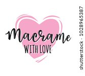 'macrame with love' vector logo....