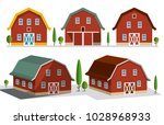 houses on farm farming concept