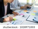 business man working at office... | Shutterstock . vector #1028971003