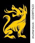 cartoon decorative silhouette...   Shutterstock .eps vector #102897623